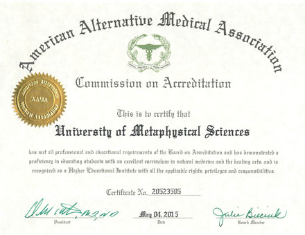 AAMA Accreditation - University of Metaphysical Sciences