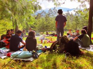Daytime ceremony at Gaia Sagrada Retreat Center