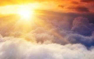 Beautiful Image of Sun and Clouds: A Course in Miracles