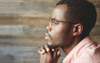 Man in Contemplation: Finding Life Purpost