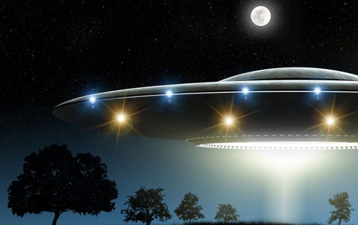 UFO with Full Moon: UFOs & Extraterrestrial Intelligence