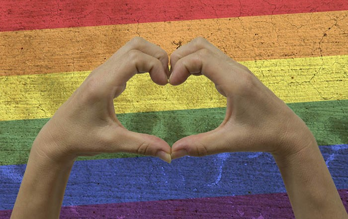 Rainbow Flag with Heart Hands: Sexual Identity and Spirituality